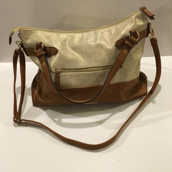 89e90543ef Jessica Simpson Handbags - Jessica Simpson Large Gold Katelina Tote Purse